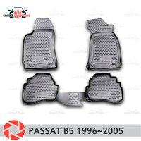 سجاد لسيارات فولكس فاجن باسات B5 1996 ~ 2005 من مادة البولي يوريثين مانع للانزلاق ملحقات تزيين السيارة الداخلية للحماية من الأوساخ