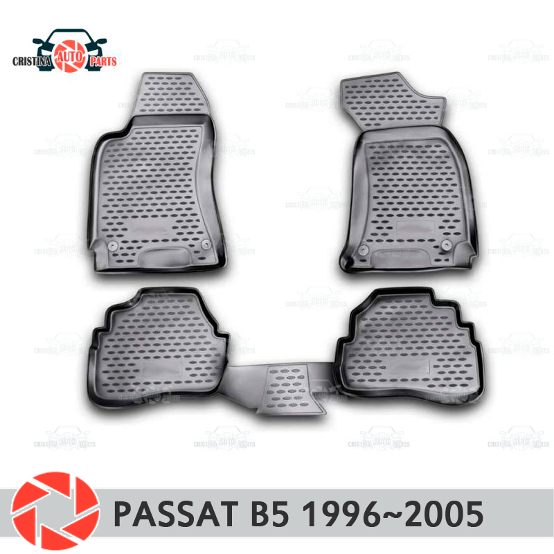Floor mats for Volkswagen Passat B5 1996~2005 rugs non slip polyurethane dirt protection interior car styling accessories