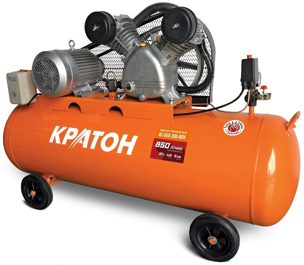 Compressor KRATON with belt transmission AC-850-300-BDV compressor kraton with belt transmission ac 630 110 bdw