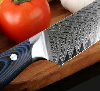 """XITUO High Quality 8\""""inch Damascus Chef Knife AUS10 Stainless Steel Kitchen Knife Japanese Santoku Cleaver Meat Slicing Knife AA"""