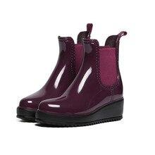 117c476ec Nuevo otoño Botas de lluvia de las mujeres de goma impermeable botas mujer  botas de tobillo
