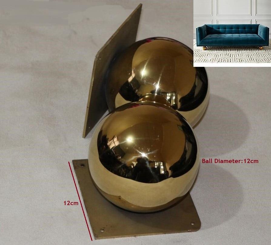 2Pcs/Lot Gold Furniture TV Cabinet Sofa Ball Feet Leg