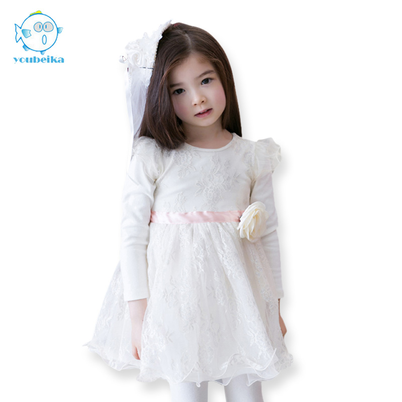 3 Layers Tulle Girls Dress Fashion Autumn Party Wedding Princess Kids Toddler Dresses Children Clothing White Dresses For Girls цена и фото