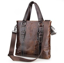Men's Briefcase Brown Travel Business Genuine Leather Vintage Laptop Ipad Note Book Handbags Messenger Shoulder Crossbody  Bags