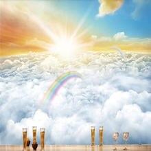 Фон для фотографирования с изображением прогулок облаков настроения