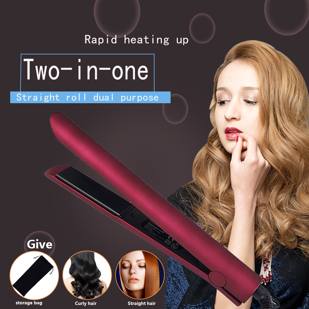 Professional Hair Straightener, Flat Iron for Hair Styling 2 in 1 Tourmaline Ceramic Flat Iron for All Hair TypesProfessional Hair Straightener, Flat Iron for Hair Styling 2 in 1 Tourmaline Ceramic Flat Iron for All Hair Types