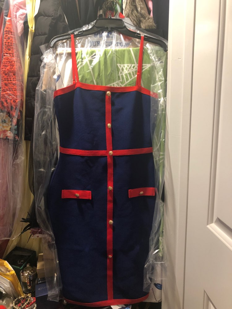 Summer Blue Bodycon Bandage Dress Women Vestidos Elegant Spaghetti Strap Night Club Dress Celebrity Party Dress photo review