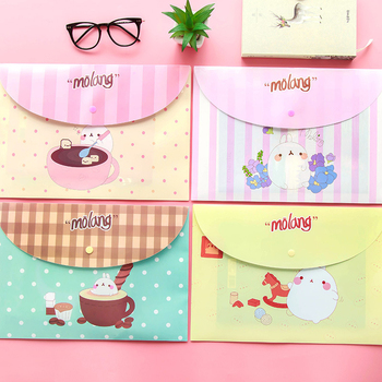 2200 Korean stationery cute PVC waterproof paper bags snap A4 office storage bills examination paper clip image