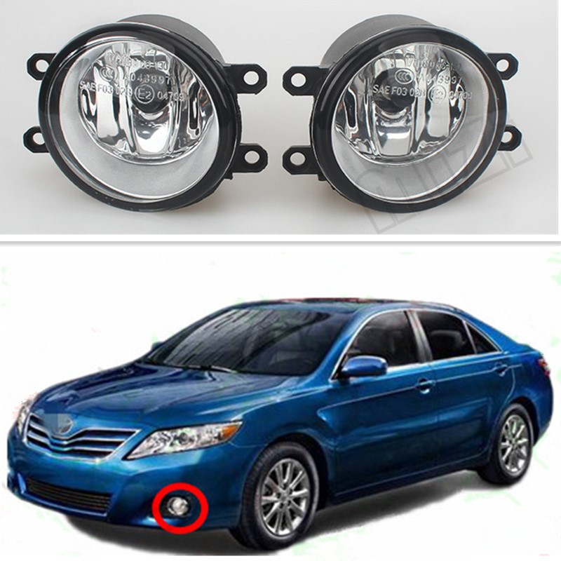For Toyota CAMRY 2010+ cars Exterior Front Bumper Light Fog Lamps Original Fog Lights 1 Set (Left + right) 81210-06052 1 set left right car styling front halogen fog lamps fog lights 81210 06052 for toyota rav4 2006 2007 2008 2009 2010 2011 12