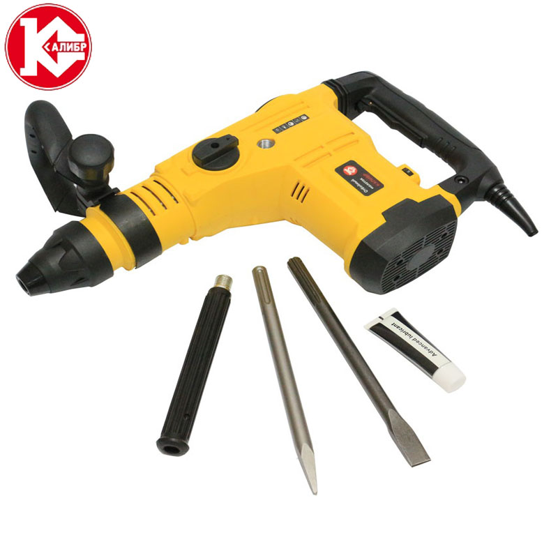 Kalibr OM-1500m Electric Demolition Jack Hammer Rotary Jackhammer Electric Concrete kalibr ep 900 30m electric demolition hammer punch electric rotary hammer power tools