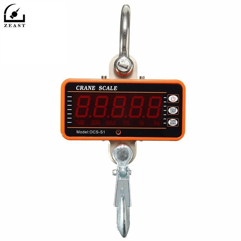 1000 KG 2000LBS Balance Suspendue Numérique LCD Grue Échelle De Haute Précision Heavy Duty