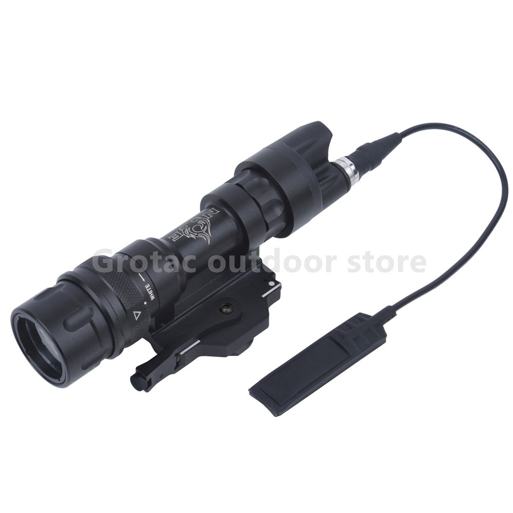 M952V QD Quick Release Tactical Rifle Flashlight Mount Weapon Lights with 400 Lumens for Hunting Accessories greenbase sf m952v tactical flashlight dual output weapon light tactical rifle light hunting flashlight qd mount with 400 lumens
