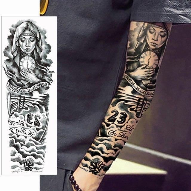 10 unids impermeable brazo tatoo temporal Adhesivos manga completa