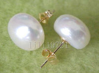 Huge AAA 13 13 5MM White South Sea Pearl Earrings Girls Jades Free Shipping