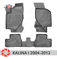 For Lada Kalina I 2004-2012 floor mats rugs non slip polyurethane dirt protection interior car styling accessories