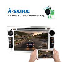 7 inch 2 din Android 8.0 Octa core car dvd radio player for Opel Astra h g Zafira B Vectra C D Antara Combo 4GB&32GB