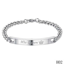 Her King Bracelets His Queen Couple Bracelets With Crytal Stone Boyfriend Girlfriend Lover Jewelry