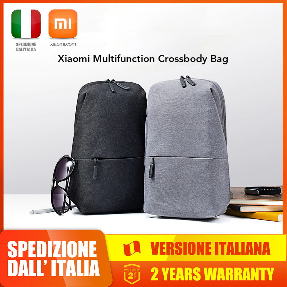Original Xiaomi Mi Sling Urban Leisure Chest Pack Bag For Men Women Small Fast shipping from Italy image