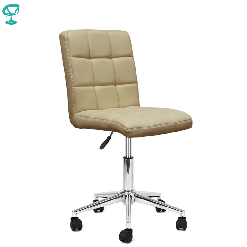 94961 Barneo N-48 Leather Roller Kitchen Chair Swivel Bar Chair Beige Free Shipping In Russia