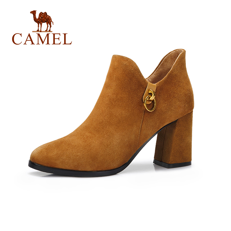CAMEL Women Short Boots 2018 New High Heel Fashion Casual Korean Style Boots Shoes Women Elegant Style Shoes For Grirls fashion style