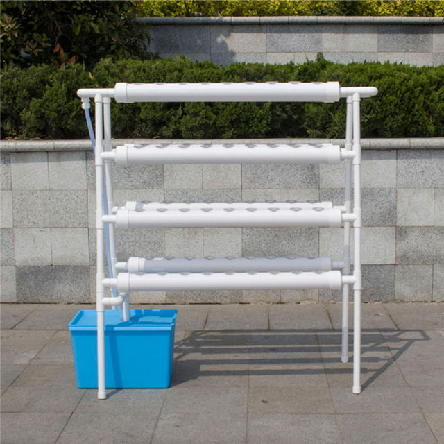 Hydroponic Plant System Grow Kit 72 Sites Holder Pipe Ladder Type Engraftment Baskets Vegetable Garden Tools 110v Deep Well Pump