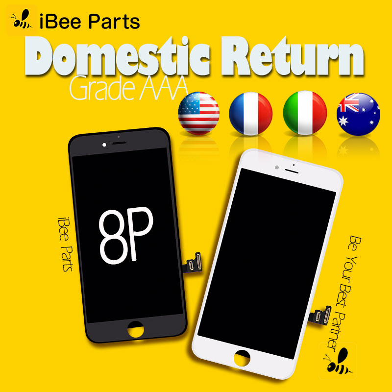 iBee Parts 10PCS For YOUDA Grade AAA Pantalla ecran For iPhone 8 Plus LCD Screen Touch Display Digitizer Assembly Replacement