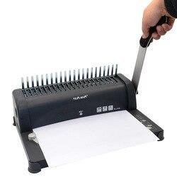 Роскошный Металлический регулируемый ручной перфоратор с 21 отверстиями для офисных документов, скрапбукинга, бумажная ручка, перфоратор, и...