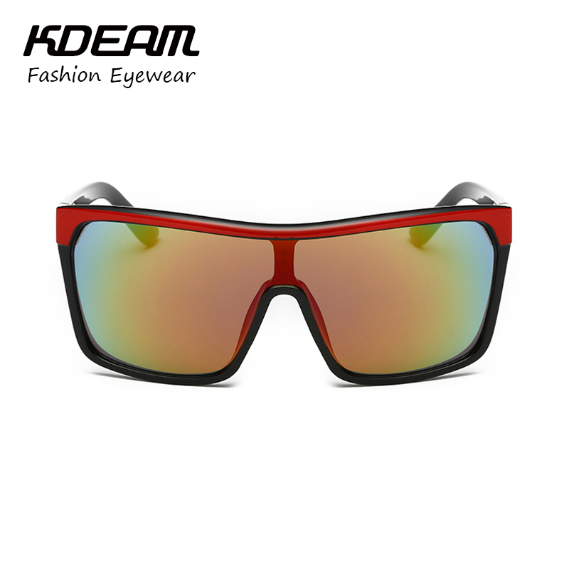 9ef362de69 KDEAM Mens Goggle Flynn Sport Sunglasses Flat top Frame Women Sun Glasses  Windproof Glasses UV400 4 colors with Case KD802-in Sunglasses from Apparel  ...