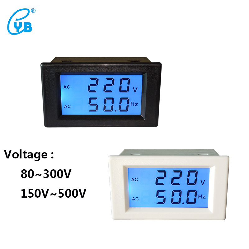 Ac Frequency Meter : Yb dvf two wire lcd ac voltage frequency dual meter