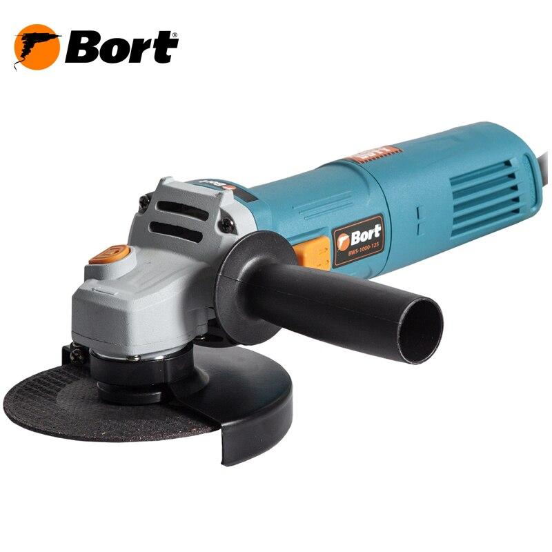 Angle grinder Bort BWS-1000-125 kalibr mshu 125 955 electric angle grinder polisher machine hand wheel grinder tool