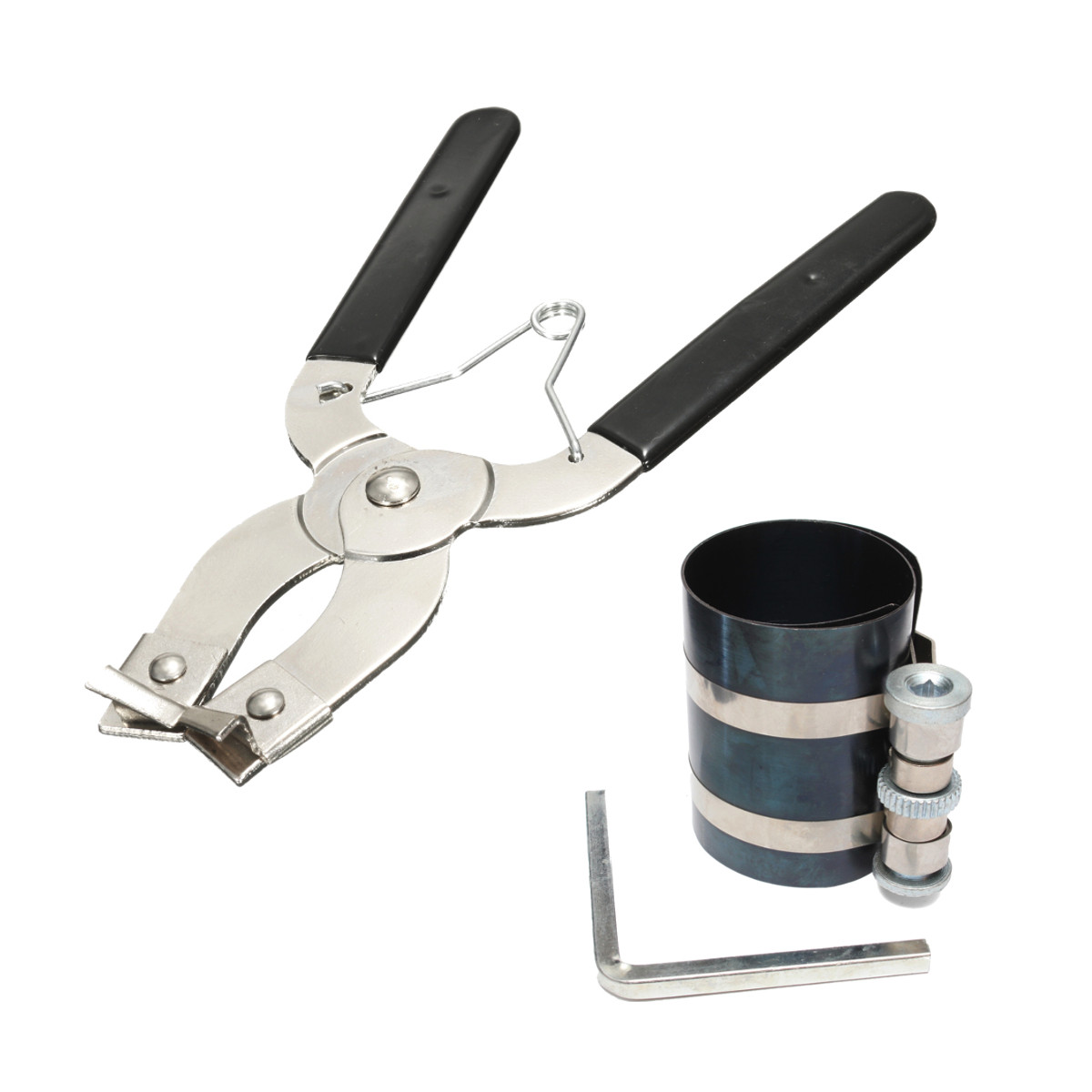 1 Juego de anillo de pistón compresor instalador trinquete alicate removedor motor expansor Herramienta de extracción