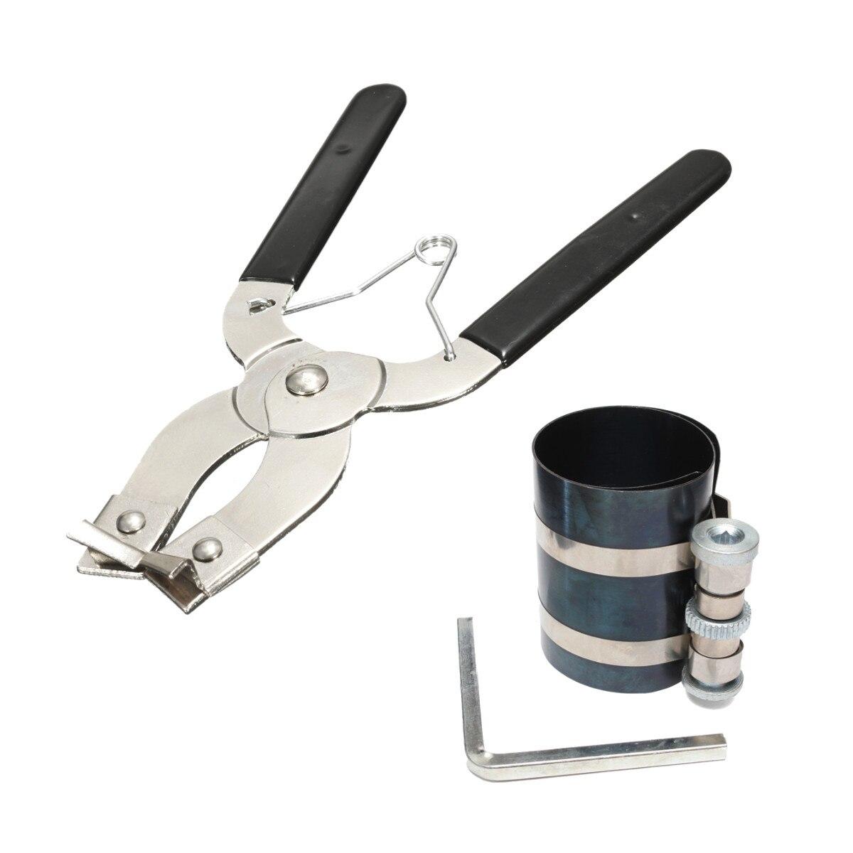 1 zestaw tłokowy pierścień sprężarki instalator Ratchet Plier Remover Expander Engine Pull Tool