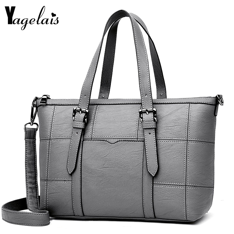 Women Casual Tote Solid Color Multifunction Versatile Fashion Soft Shoulder Bag Zipper Long Single Straps Ladies Handbag