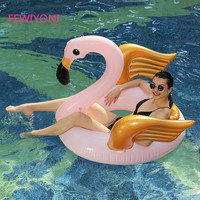 140*105*100CM Flamingo inflatable mount swimming ring adult children inflatable unicorn swimming pool float flamingo water toy