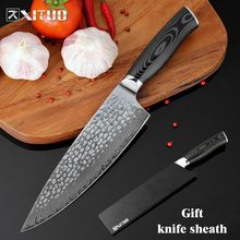 XITUO 8 inch Chef Knife 67 layers Damascus Forging Craft Slaughter Mekata Handle Utility Kitchen Cooking Tools Sharp