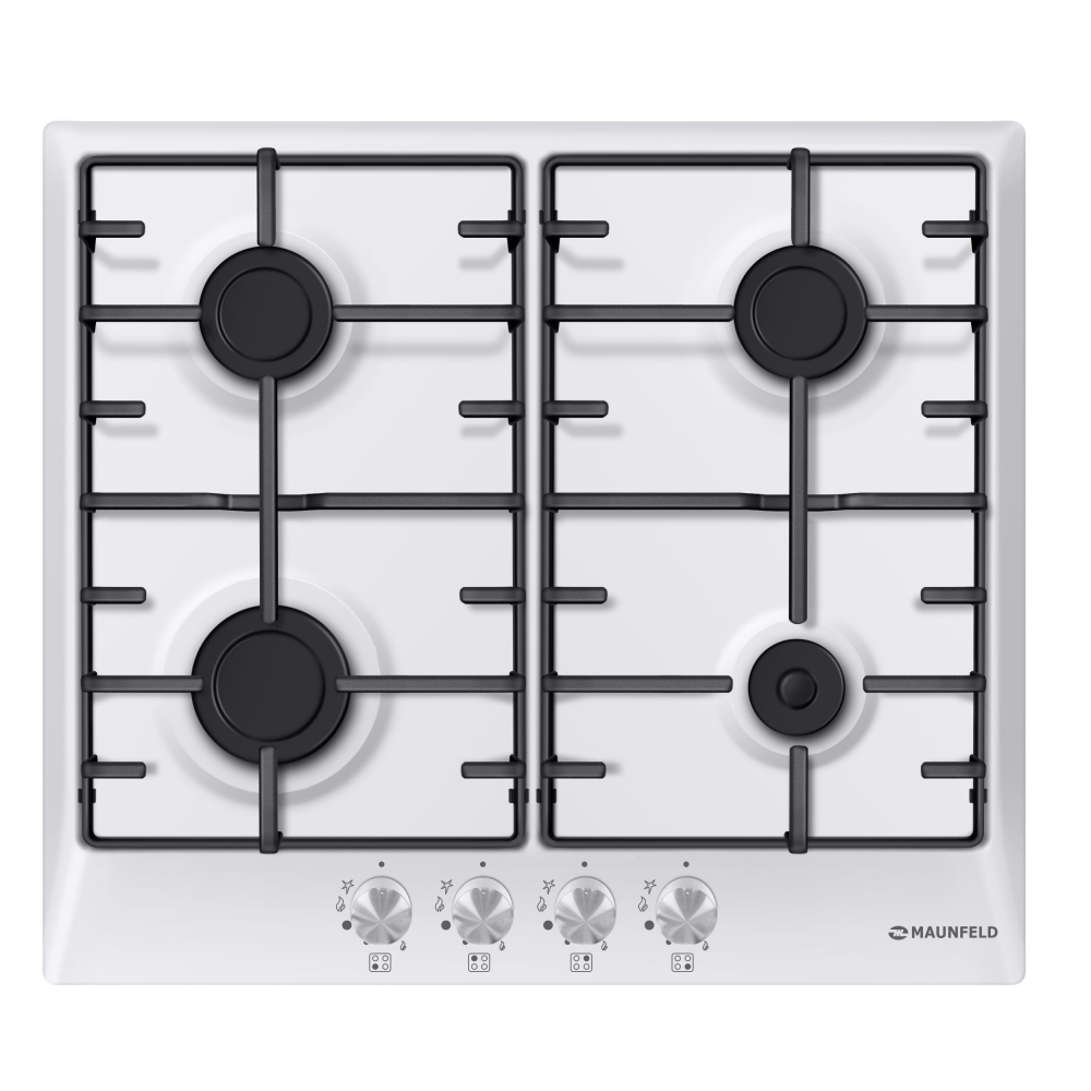 Cooking panel MAUNFELD EGHE.64.3EW/G White cooking panel maunfeld eghe 64 43cw g white