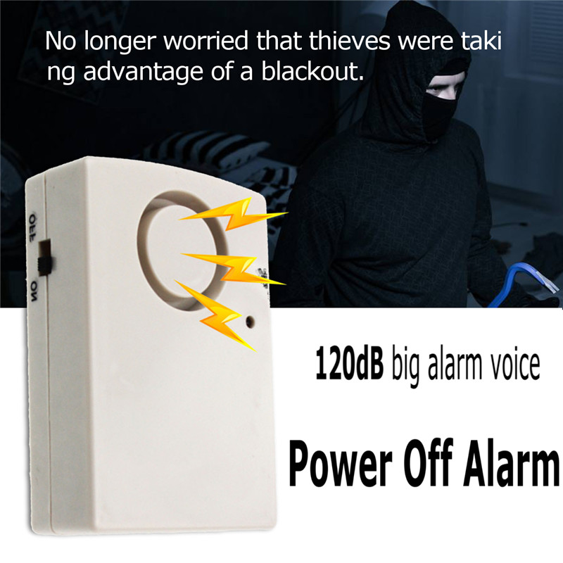 Automatic Wireless Power Off Detector 120db Power Cut Failure Outage Alarm Testing Sensor Waring Siren LED Indicator Home