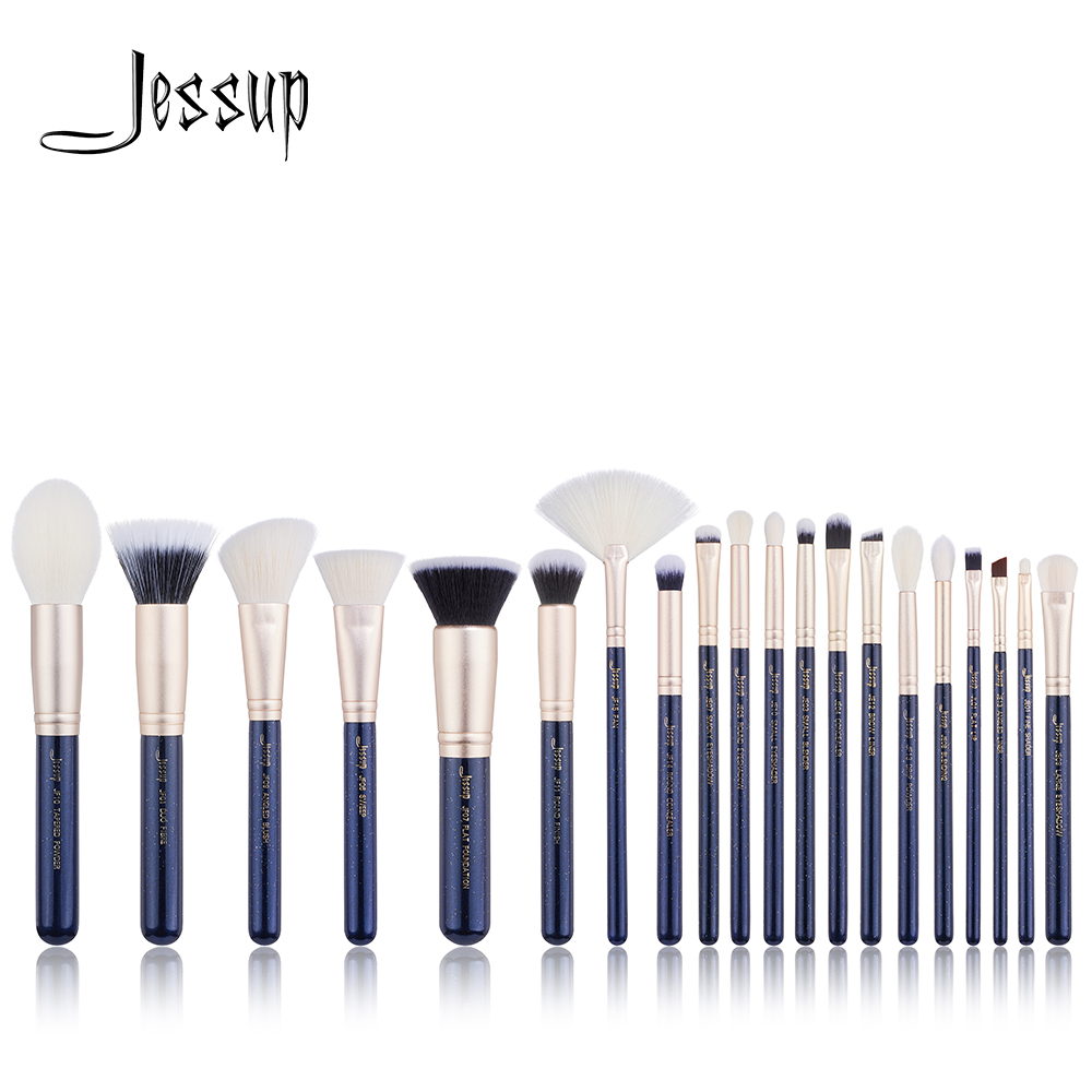 NEW Jessup 20PCS Prussian Blue/ Golden Sands Professional Makeup brushes set Cosmetic tools Make up brush POWDER FOUNDATION LIP new jessup brushes 25pcs prussian blue golden sands makeup brushes set beauty tools make up brush powder foundation eyeshadow