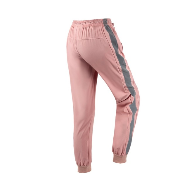 Drawcord Reflective Stripe Jogger Pants Women's Jogging Running Gym Travel Active Sport Skinny Sweat Track Pants Sweatpants 1