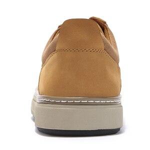 Image 3 - גמלים סתיו החורף חדש אמיתי עור לשפשף נעליים יומיומיות אופנה גברים של מגפיים קצרים ללבוש אופנה מזדמן גברים נעליים