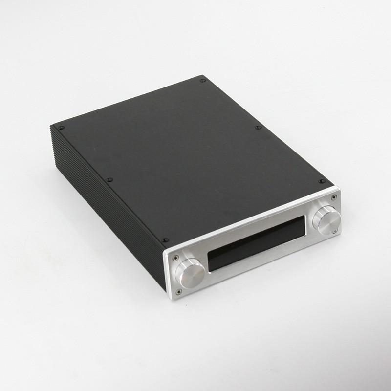 BZ2206A Full Aluminum Preamp Enclosure Amplifier Chassis Mini HiFi AMP Box For JV13 Remote Control Volume Board mini circuit board computer amplifier full aluminum chassis box enclosure rc