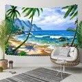 Anderes Grün Palm Bäume Tropical Strand Meer Wellen 3D Druck Dekorative Hippi Böhmischen Wand Hängen Landschaft Wandteppich Kunst|Dekorative Wandteppiche|Heim und Garten -