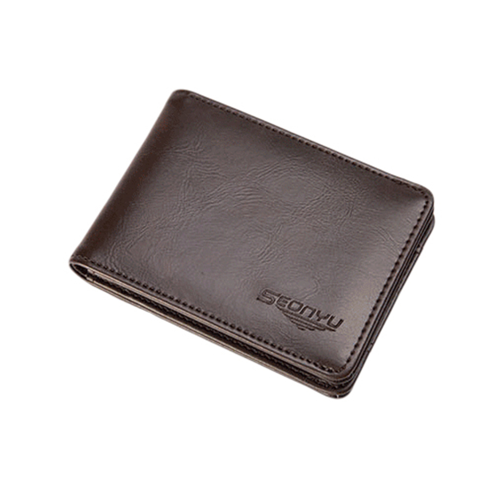 все цены на Men's Pigskin Genuine Leather Bifold Wallet Credit/ID Card Holder Short Purse онлайн