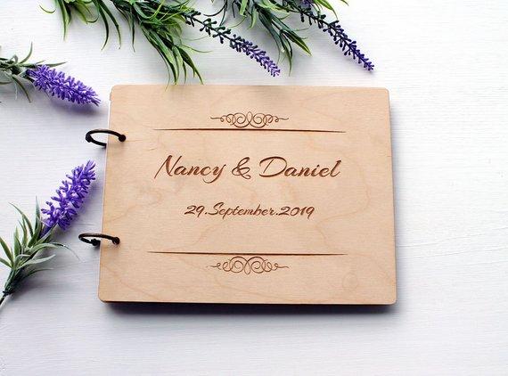Aliexpress  Buy Modern Wedding Guest Book Wooden Wedding Guest