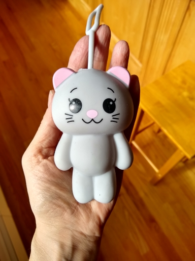 Cute Cartoon Animal Cat Silicone Key Holder  Case Bag Wallet Pendant 9XRX photo review
