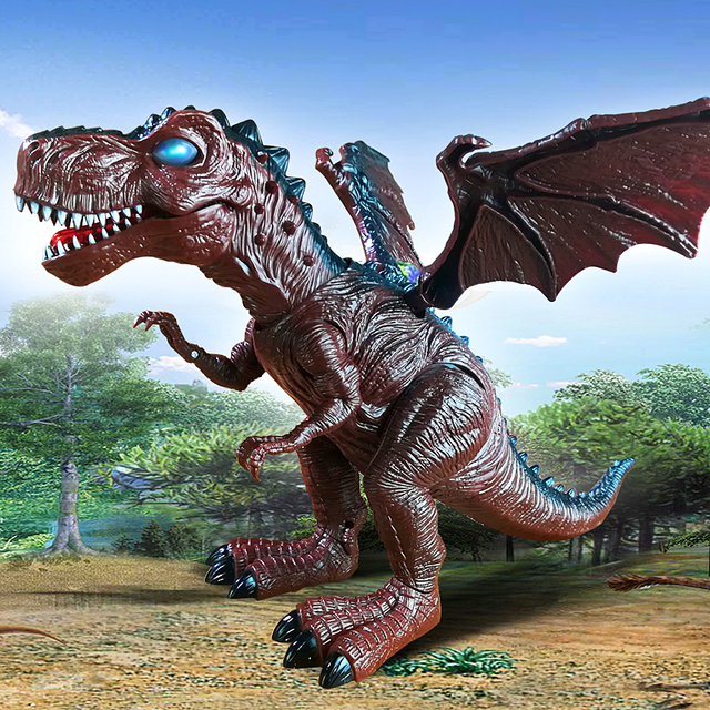 Electric toy large size walking dinosaur robot With Light Sound Tyrannosaurus Rex kids toys free shipping