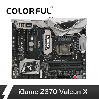 Colorful iGame Vulcan X Intel Z370 LGA 1151 DDR4 SATA 6Gbs Motherboard ATX Motherboard  2 M.2 Front USB3.0 2-Way SLI Pro Gaming Тахеометр