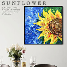 Hand painted Vincent Van Gogh Art Painting Blossom sunflower Oil The Starry Night famous canvas picture