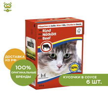 Bozita Feline консервы для кошек (кусочки в соусе), Говядина, 6*370 г.