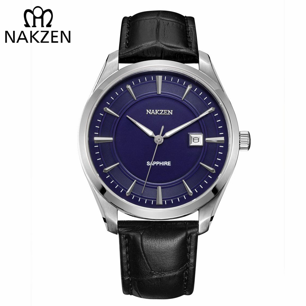 NAKZEN Mens wrist Watches Top Luxury Brand Quartz Watch Casual Leather Sports Wristwatch Homme Male Clock Relogio Masculino carbon fishing rod carptelescopic fishing rod mixture 8 section hard fishing pole tackle